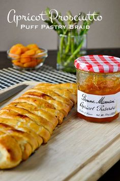 Apricot Prosciutto Puff Pastry Braid brings prosciutto and cheese together with the sweet touch of apricot preserves. A welcome addition to any brunch. #ad