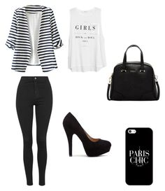 """Untitled #48"" by sara-carvalho-i ❤ liked on Polyvore featuring WithChic, Topshop, MANGO, Furla and Casetify"