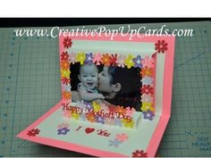 Mother's Day Photo Frame Pop Up Card Tutorial - Creative Pop Up Cards