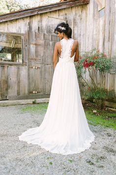 Golden bridal dresses beach wedding dress by JuLeeCollections