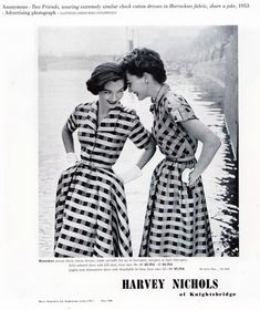50s Horrockses dress advert for Harvey Nichols