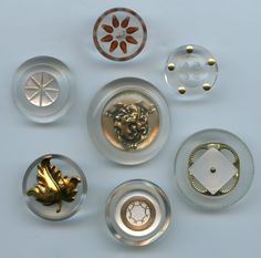 SOLD: 7 vintage lucite buttons