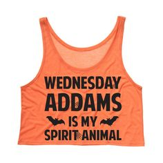 Tees and Tank You - Wednesday Addams is my Spirit Animal Crop Tank Top