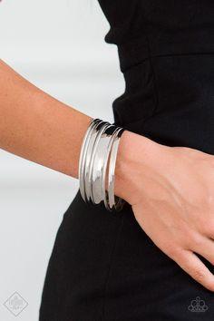 Sahara Shimmer Silver Paparazzi Accessories Bangle Bracelet