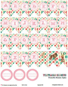 I have designed a banner alpha in a vintagey color palette that I really love, consisting of teal, cream and a range of pink colors as well . I also included some vintage journaling labels and vintage circus images. This freebie was a lot of fun to design because I really like vintage circus themes. …