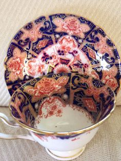 Wileman Shelley Imari Gainsborough Tea Cup And Saucer #wilanshelley