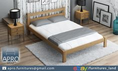 🛏 The bed headboard can be one of main decorations in your bedroom. Especially when it's shape is unusual and eye-catching. 👍 bed frame is among stylish and modern-style design furniture! Bed Frame With Mattress, Bed Mattress, Bedroom Furniture, Furniture Design, Bedroom Decor, Bedroom Ideas, Wood Beds, Headboards For Beds, Double Beds