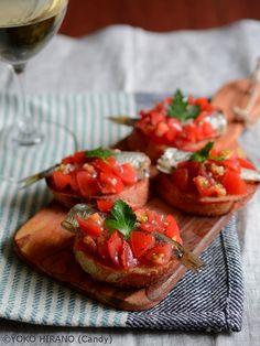 トマトとオイルサーディンのブルスケッタ by Candy | レシピサイト「Nadia | ナディア」プロの料理を無料で検索