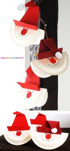 Noel Baba Yapımı-Santa Claus activities preschool and activities