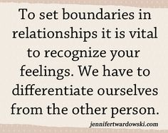 6 Steps to Setting Boundaries in Relationships - Jennifer Twardowski #boundaries #relationships #boundary #boundarysetting #selfcare #feelings #selflove #toxicrelationships #codependency #codependent #toxicbehavior #negativity #negativebehavior #quotes #lifetips