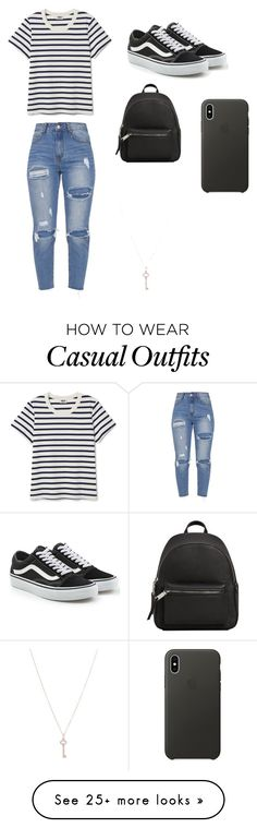 """Casual day out"" by sadie-kimmey on Polyvore featuring Vans, MANGO, Apple and Tiffany & Co."