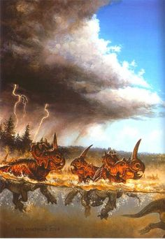Drowning Centrosaurs, Michael Skrepnick