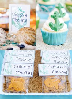 """""""Out to Sea"""" Nautical Baby Shower // Hostess with the Mostess©"""