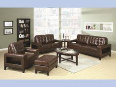 Paige Brown Contemporary Sofa & Loveseat #sofa #loveseat #livingroom #rana #ranafurniture #furniture #miami