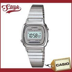 CASIO(カシオ) LA-670WA-7/LA670WA-7 スタンダード デジタル オールシルバー レディースウォッチ チープカシオ 腕時計 【あすつく】 :la-670wa-7:Goody online - 通販 - Yahoo!ショッピング Casio Watch, Digital Watch, Digital Watch Face