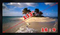 """Antra® PSF-133A 133"""" 16:9 Fixed Frame Projector Projection Screen New PVC White"""