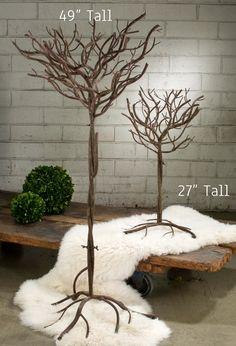 Realistic Metal Tree - Natural Look - Brown - 4 Feet Tall!
