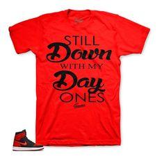 2138d487399 Jordan 1 Flyknit Shirt - Day Ones - Red