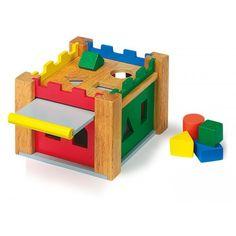Castello incantato delle forme Con 9 cubi massicci e colorati in 4 forme diverse per imparare ad essere abili.