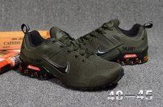 78c925be47 Comfortable Nike Air Shox Ultra 2019 Olive Green Black Shox R4 Men's  Athletic Running Shoes Nike