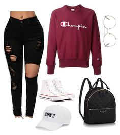 """a day at school"" by savvv1987 on Polyvore featuring Champion, Converse, SO and Chloé"