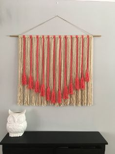 Large Macrame Wall Hanging/ Woven Yarn Wall Hanging/ Wall Tapestries/ Shabby Chic/ Wall Decor by DragonOnTheFly on Etsy https://www.etsy.com/listing/517674810/large-macrame-wall-hanging-woven-yarn