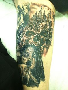 Horror tattoo.  The Castle