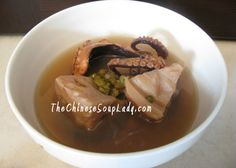 The Chinese Soup Lady & Chinese Soup Recipes » Blog Archive » Lotus Roots with Mung Beans in Dried Octopus Soup