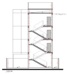 Corte BB do edifício