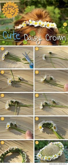 Diy Cute Daisy Crown