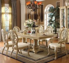 Ordinaire Coronado 7 Piece Dining Set By Acme Furniture