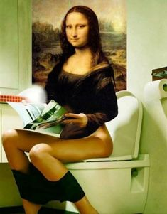MikeLiveira's Space: Mona Lisa From Alternate Universe 6 Mona Lisa Secrets, Funny Images, Funny Pictures, Mona Friends, Mona Lisa Parody, Mona Lisa Smile, Foto Art, Portrait, Cool Stuff