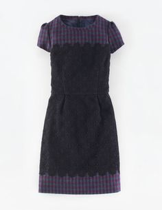 Lace & Tweed Dress WH958 Special Occasion Dresses at Boden