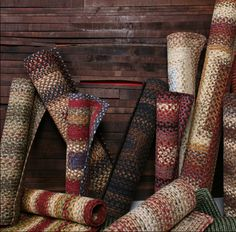 Authentic Country Home Decor Rugs Pillows Braids---Braided rugs of all sizes can…