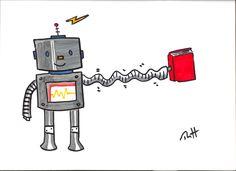 Long armed reading robot