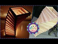 DIY - Luminária em espiral de palitos de picolé - Spiral lamp of popsicle sticks - YouTube