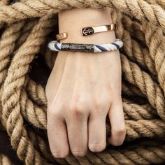 Nice new bracelet by William Reep! #bracelet #bangle #nautical #cottonrope #anchor #getreeped