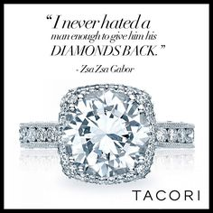 We're with you Zsa Zsa. REPIN to WIN! Re-pin + click through this image to enter for your chance to win a Tacori ring: https://www.facebook.com/WhoWhatWear/app_505238386193403