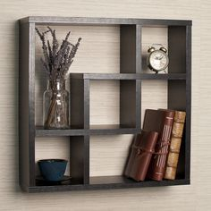 Square Wall Shelf Floating Decor Shelves Cube Display Storage Mount Organizer | eBay