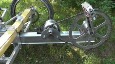 A pedal generator for a chainless bike or human power - electric serial hybrid. Easy to build DIY project presented by Thomas Senkel. Free Plans for aluminum...
