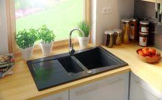 Choosing a New Kitchen Sink Granite Kitchen Sinks, Composite Kitchen Sinks, Composite Sinks, New Kitchen Cabinets, Double Kitchen Sink, Kitchen Sink Design, Diy Kitchen, Madrid, Kitchens