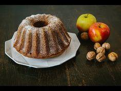 Jablková bábovka s ořechy Karolíny Prokopové - YouTube Bagel, Doughnut, Muffin, Bread, Make It Yourself, Breakfast, Recipes, Food, Youtube