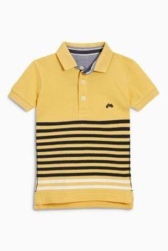 Yellow Short Sleeve Stripe Polo (3mths-6yrs)