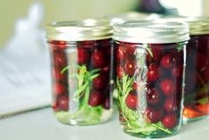 French Pickled Cherries with Tarragon - mix into a salad, top a protein, or eat alone! Cherry Recipes, Jam Recipes, Fruit Recipes, Real Food Recipes, Pickled Cherries, Pickled Fruit, Best Pickles, Pear Butter, Canned Food Storage