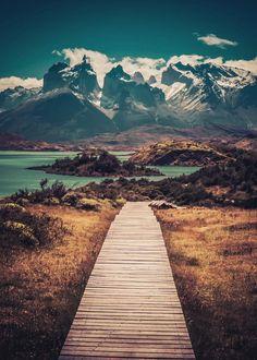 Parque Nacional Torres del Paine in Puerto Natales, Magallanes y de la Antártica Chilena