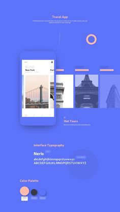 Find the hottest tours around the globe. The app allows to easily sort tours by date, location, price, and popularity and make an order in few taps. App Ui Design, Mobile App Design, Mobile Ui, Interface Design, Flat Design, Brochure Design, Cover Design, App Design Inspiration, Design Responsive
