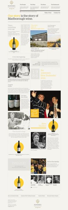 Hunters Wines - Best website, web design inspiration showcase