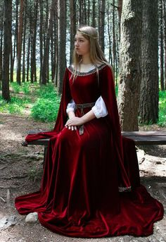 Réduction spéciale Robe elfique robe en velours costume