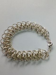 Bracelet Making, Jewelry Making, Chainmaille, Weaving, Etsy Shop, Jewels, Jewellery, Sterling Silver, Bracelets