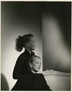 (Marlene Dietrich and her daughter Maria Riva photographed by Horst P. Horst for Vogue Magazine, c. Marlene Dietrich, Lili Marlene, Old Hollywood Movies, Golden Age Of Hollywood, Vintage Hollywood, Maria Riva, Horst P Horst, Young Celebrities, Celebs
